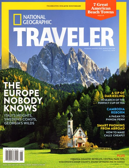 National Geographic Traveler Cover - 6/1/2014