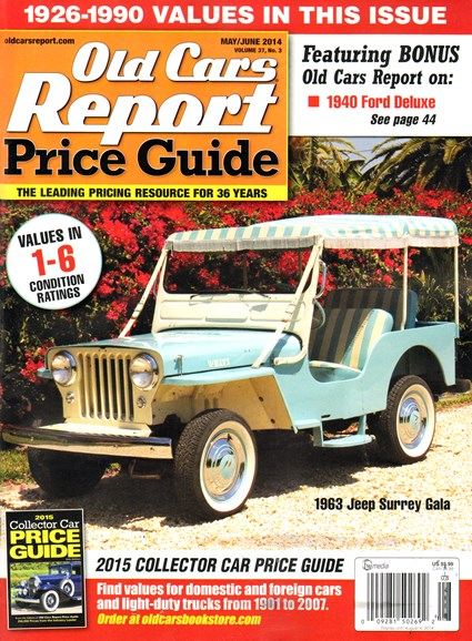 Old Cars Report Price Guide Cover - 5/1/2014
