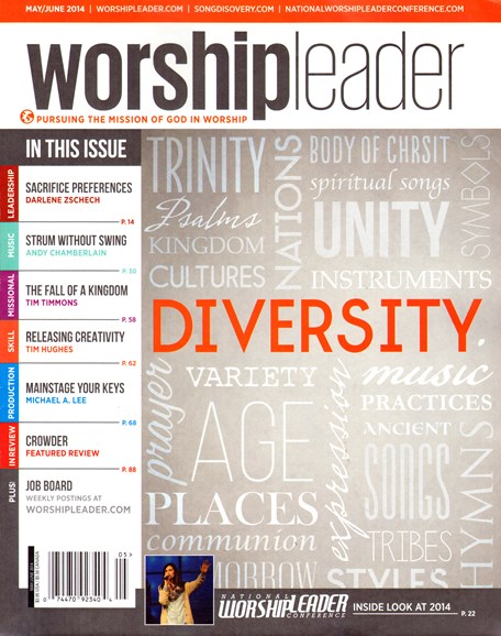 Worship Leader Magazine Cover - 5/1/2014