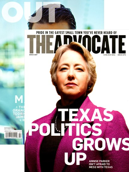 Out & The Advocate Edition Cover - 6/1/2014