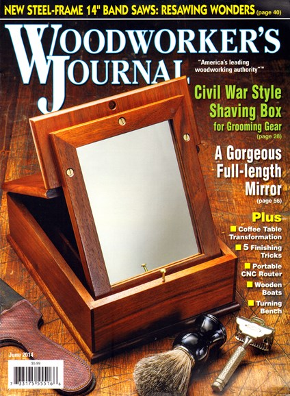 Woodworker's Journal Cover - 6/1/2014