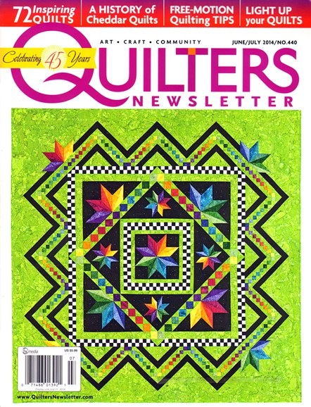 Quilter's Newsletter Cover - 6/1/2014