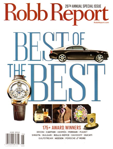 Robb Report Cover - 6/1/2014