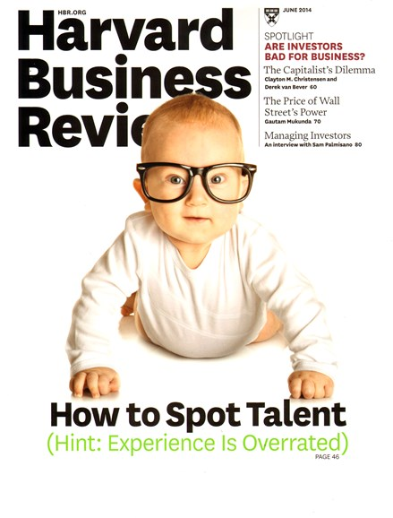 Harvard Business Review Cover - 6/1/2014