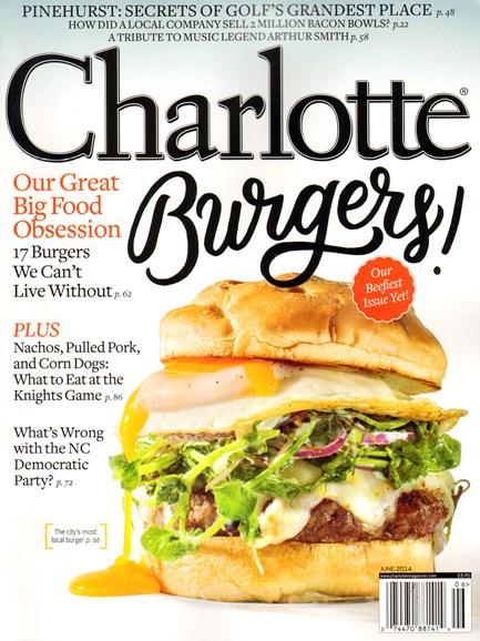 Charlotte Magazine Cover - 6/1/2014