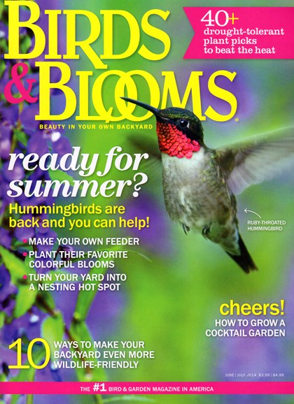 Birds & Blooms Cover - 6/1/2014