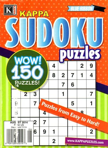 Blue Ribbon Kappa Sudoku Puzzles Cover - 8/1/2014