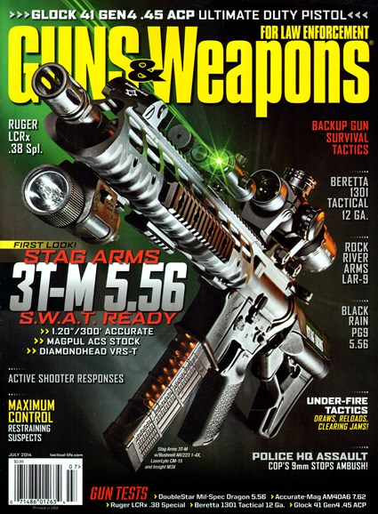 Guns & Weapons For Law Enforcement Cover - 7/1/2014