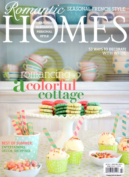 Romantic Homes Cover - 7/1/2014