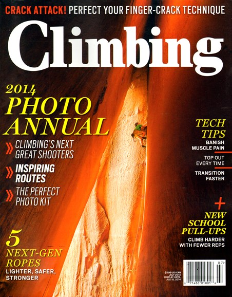 Climbing Magazine Cover - 7/1/2014