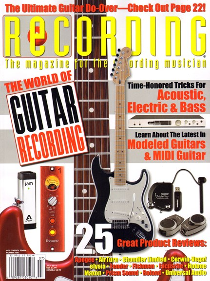 Recording Magazine Cover - 7/1/2014
