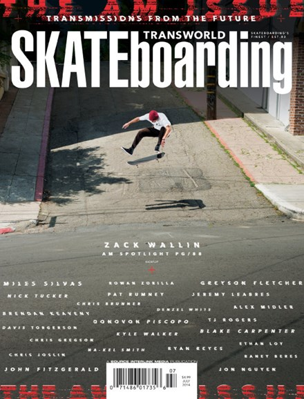 Transworld SKATEboarding Cover - 7/1/2014