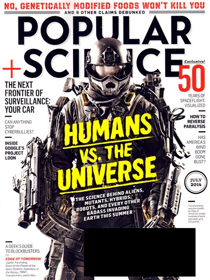Popular Science Cover - 7/1/2014