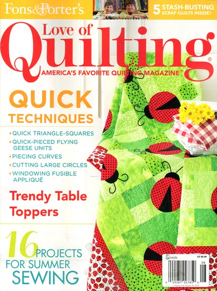 Fons & Porter's Love of Quilting Cover - 7/1/2014