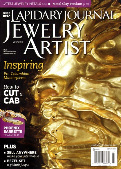 Lapidary Journal Jewelry Artist Cover - 7/1/2014