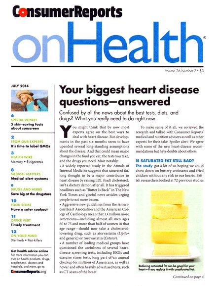 Consumer Reports On Health Cover - 7/1/2014