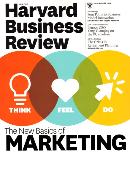 Harvard Business Review Cover - 7/1/2014