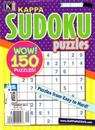 Blue Ribbon Kappa Sudoku Puzzles Magazine 9/1/2014