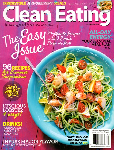 Clean Eating Cover - 7/1/2014