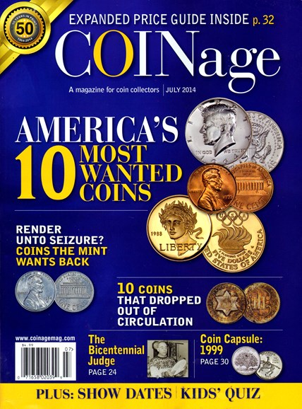 Coinage Cover - 7/1/2014