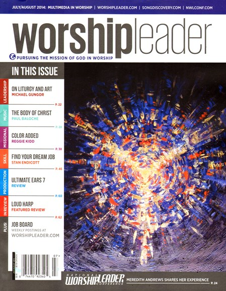 Worship Leader Magazine Cover - 7/1/2014