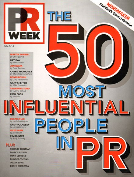 PRWeek Cover - 7/1/2014