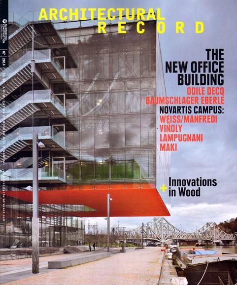 Architectural Record Cover - 7/1/2014