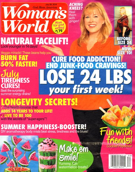 Woman's World Cover - 7/28/2014