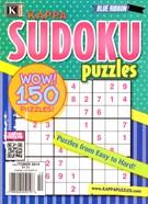 Blue Ribbon Kappa Sudoku Puzzles Magazine 10/1/2014