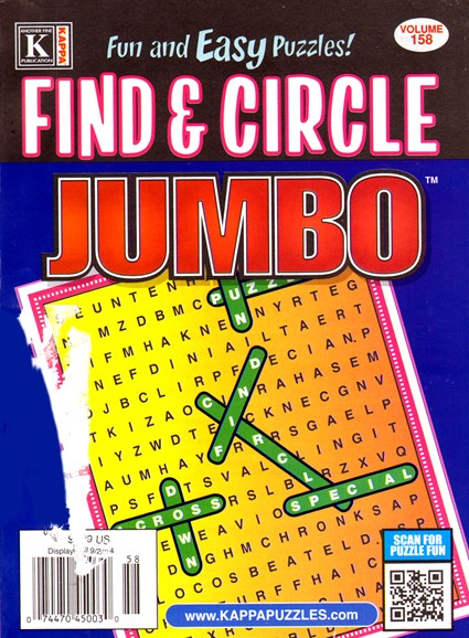 Find & Circle Jumbo Cover - 8/1/2014