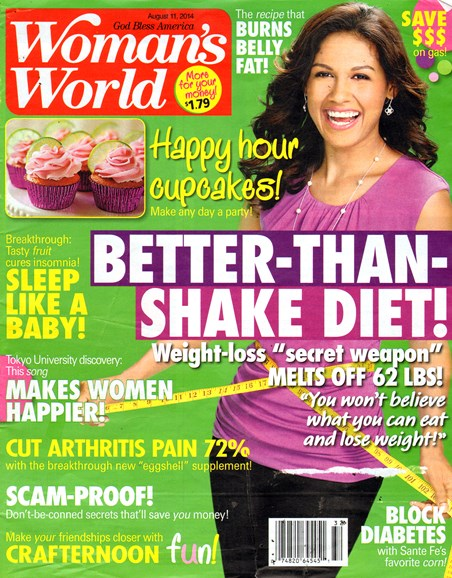 Woman's World Cover - 8/11/2014