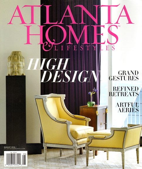 Atlanta Homes & Lifestyles Cover - 8/1/2014