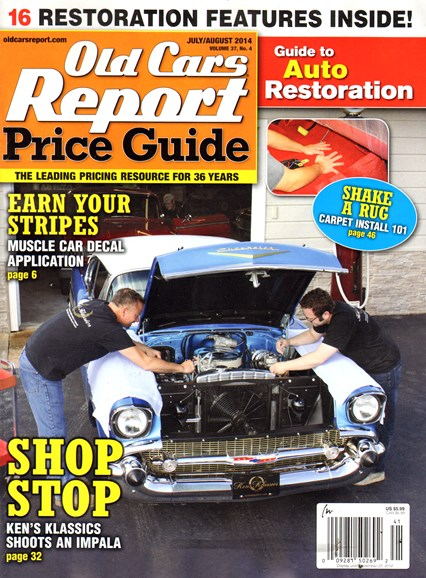 Old Cars Report Price Guide Cover - 7/1/2014