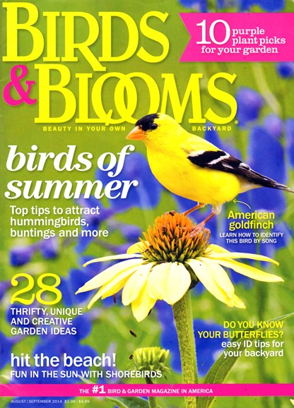 Birds & Blooms Cover - 8/1/2014