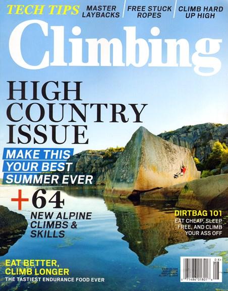 Climbing Magazine Cover - 8/1/2014