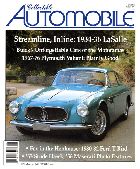 Collectible Automobile Cover - 8/1/2014