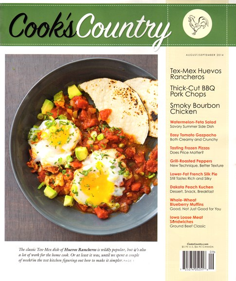 Cook's Country Cover - 8/1/2014