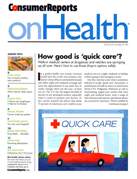 Consumer Reports On Health Cover - 8/1/2014