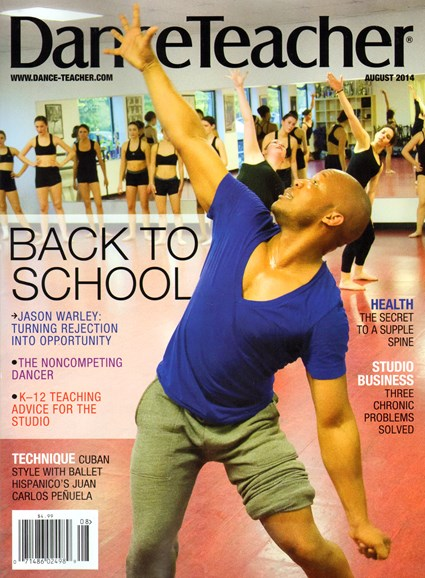 Dance Teacher Cover - 8/1/2014