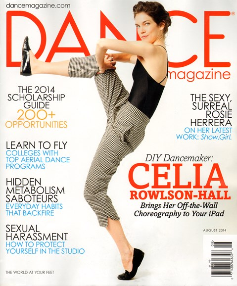 Dance Magazine Cover - 8/1/2014