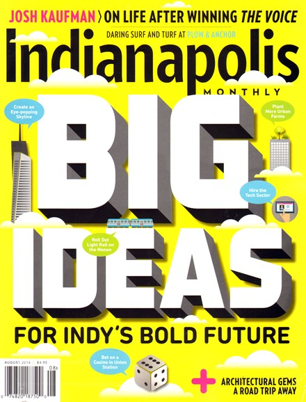 Indianapolis Monthly Cover - 8/1/2014