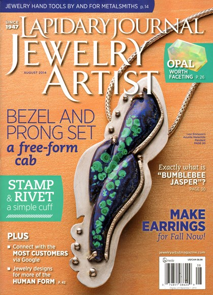 Lapidary Journal Jewelry Artist Cover - 8/1/2014