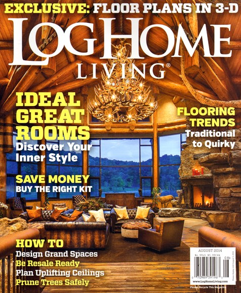 Log Home Living Cover - 8/1/2014