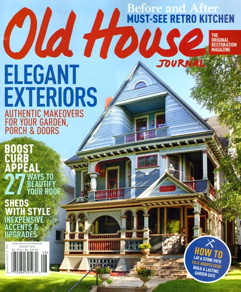 Old House Journal Cover - 8/1/2014