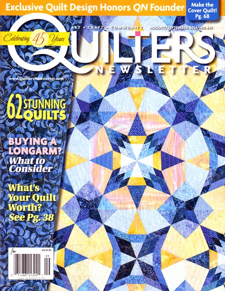 Quilter's Newsletter Cover - 8/1/2014