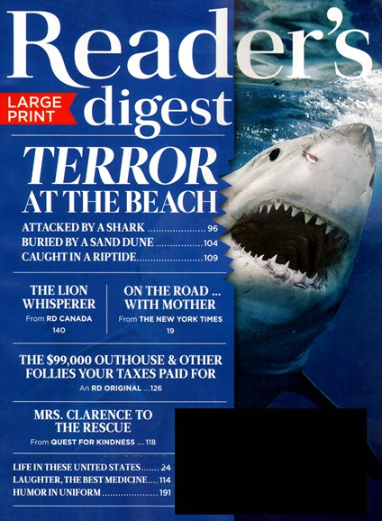 Reader's Digest - Large Print Edition Cover - 8/1/2014