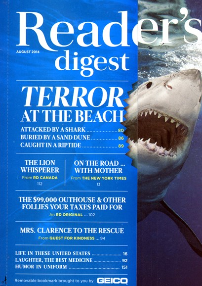 Reader's Digest Cover - 8/1/2014