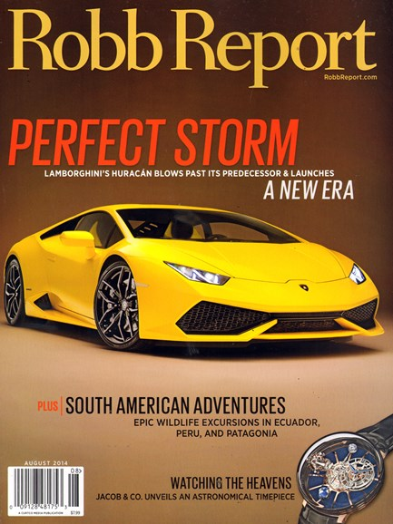 Robb Report Cover - 8/1/2014
