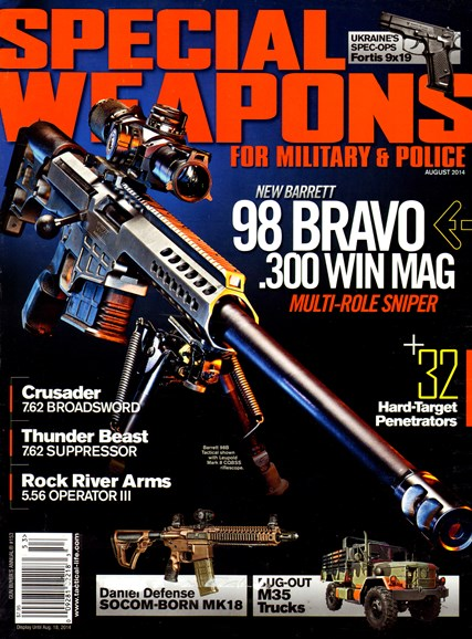 Special Weapons for Military & Police Cover - 8/1/2014