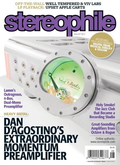 Stereophile Cover - 8/1/2014